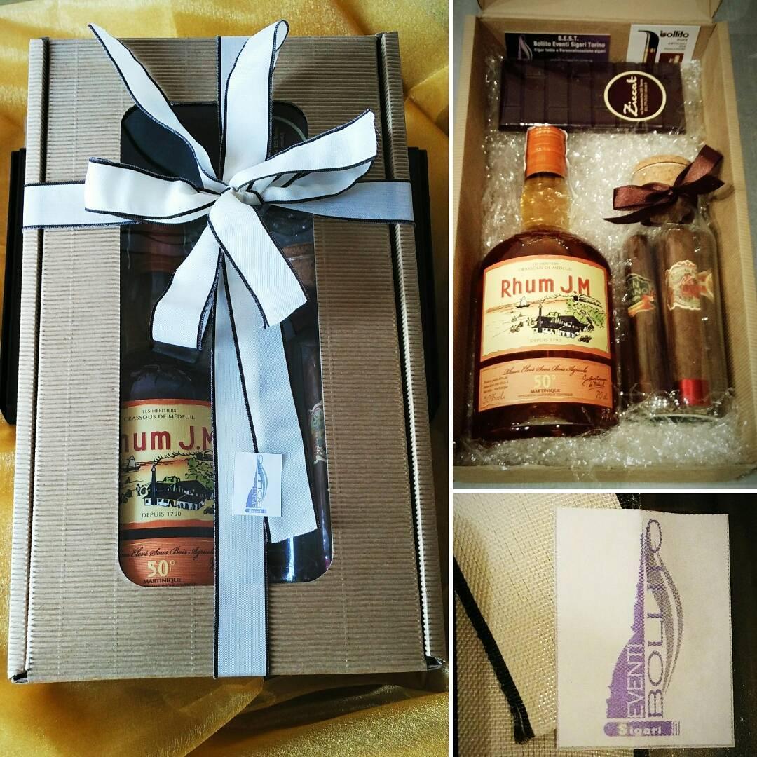 Cesto regalo - L'abbinamento perfetto - Rhum, Sigari e cioccolato
