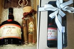 Cesto regalo, Rhum, Sigari e cioccolato